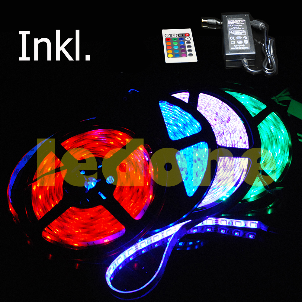Set-3m-5m-10m-15m-20m-30m-LED-Strip-e-Strips-Streifen-Leiste-Band-5050-SMD-RGB
