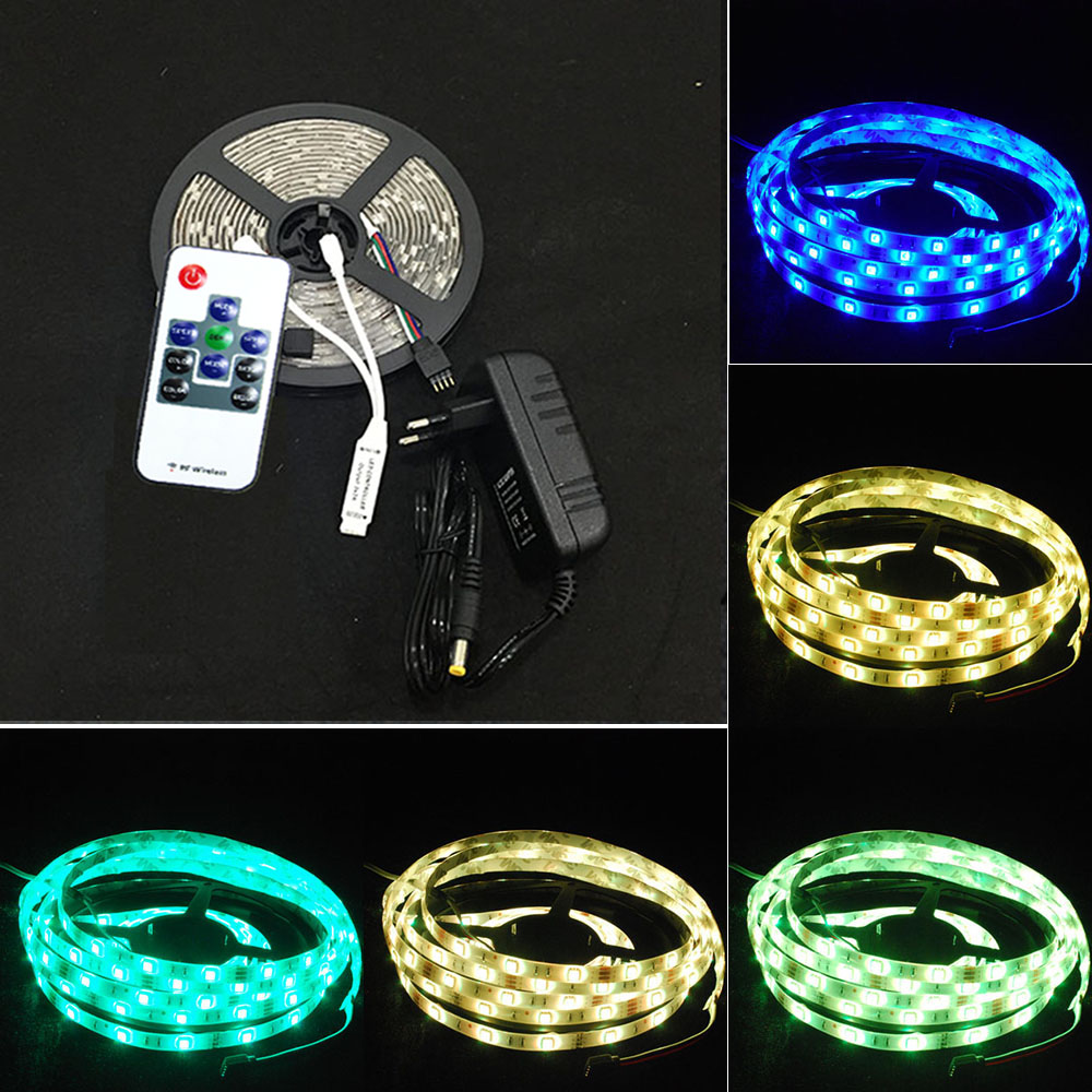 5m 500cm rgb led strip e leiste streifen 5050 smd fernbedienung netzteil trafo ebay. Black Bedroom Furniture Sets. Home Design Ideas