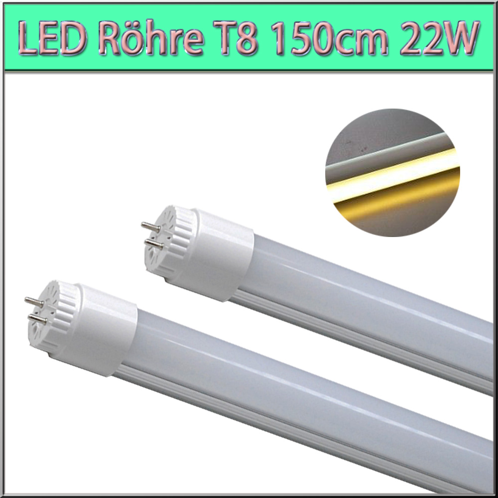2x 150cm t8 led r hr tube r hre lampe roehre leuchtstoffr hre warmwei 22w ebay. Black Bedroom Furniture Sets. Home Design Ideas