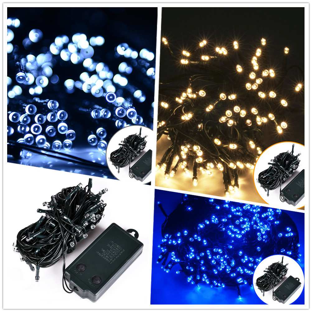 led lichterkette weihnachtsbeleuchtung timer warm wei bunt blau lichtervorhang ebay. Black Bedroom Furniture Sets. Home Design Ideas