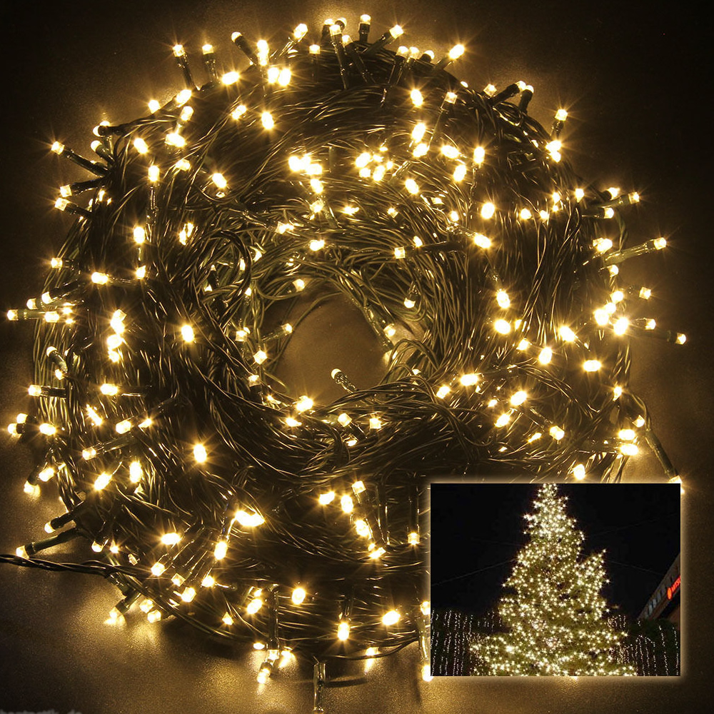 30m 200 led lichterkette weihnachtsbaum tannenbaum christbaum beleuchtung garten ebay. Black Bedroom Furniture Sets. Home Design Ideas