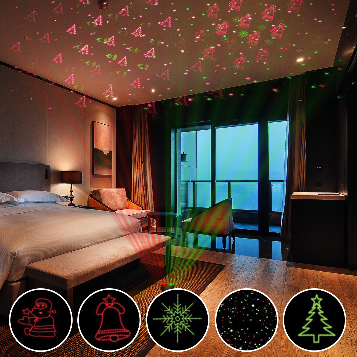 led laser licht projektor au en beleuchtung gartenlicht lichterkette garten wand ebay. Black Bedroom Furniture Sets. Home Design Ideas