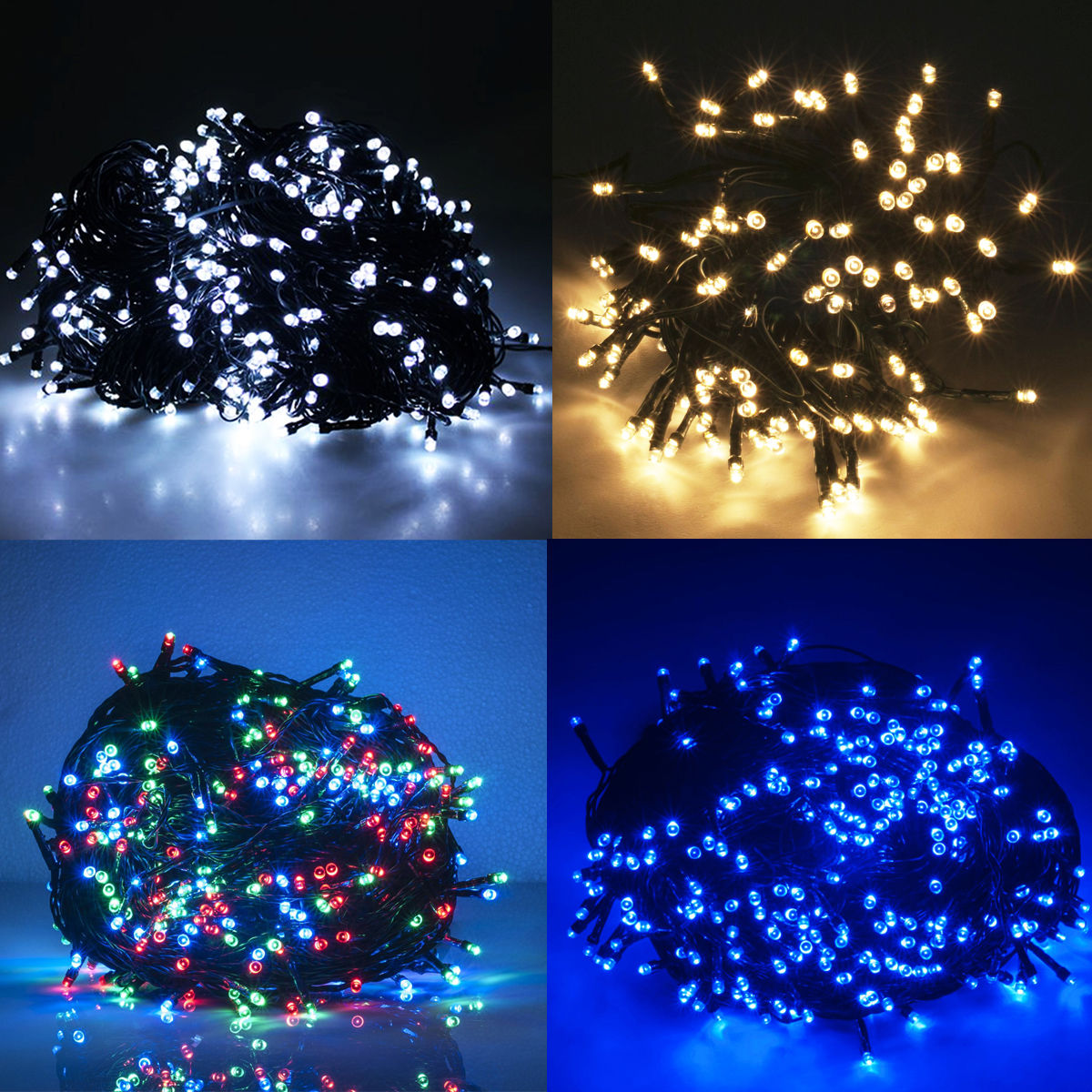 led lichterkette weihnachtslichterkette au en innen party weihnachtsbeleuchtung ebay. Black Bedroom Furniture Sets. Home Design Ideas